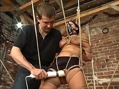 Devyn gets some heavy rope bondage.