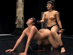 Great head scissors manuevers in Mika Tan vs. DragonLily