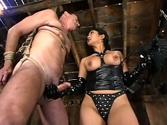 Mika's slave has been in the barn 3 times a day to jerk off