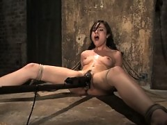 19 year old Sasha Grey is captured, bound, and forced to CUM
