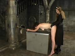 Poor peasant girl flogged, spanked and fucked by her Mistress