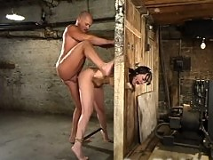 Dana DeArmond loves pain and bondage as she gets ass fucked.