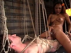 Sir C sets Annie Cruz up to torture Her willing slave.