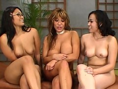 Ava Devine tag teamed by asian domme duo