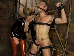 Red Hot Madeline dominates slave boy