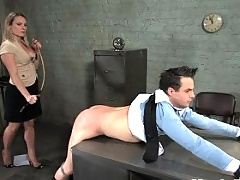 Harmony Rose fucks office boy in the ass