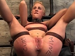 Tight blonde slave girl pushed to her limits!