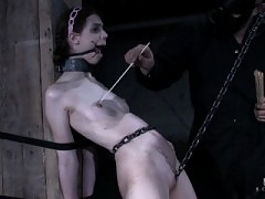 Sgt. Major puts Kristine through and intense BDSM bondage session.