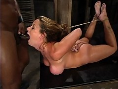 JR dominates Christina Carter with his huge black dick