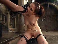 Pain slut pushed to her limits with electrostimulation!