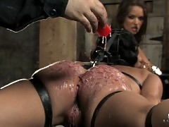 Julie Night in hardcore BDSM. Tight, strict bondage and gags.
