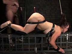 full figured girl fucked in bondage.
