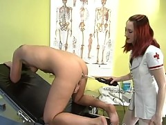 Kat takes the violet wand up her ass!