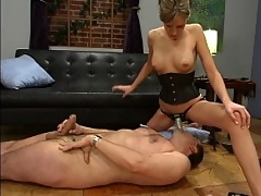Flogging, face fucking, boot worship, CBT, ass violation, bondage