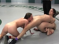 First Tag Team League Match up, non scripted nude wrestling