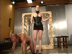 Princess Kali has a slave bound and waiting