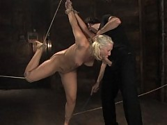 Girl fisted in bondage and sex scene.