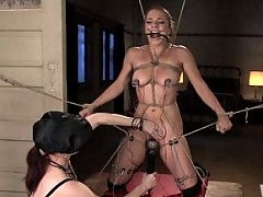 Kirra Lynne gets dominated with electricity by Claire Adams