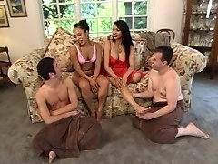 Jasmine fucks daniel while her husband struggles spread eagle