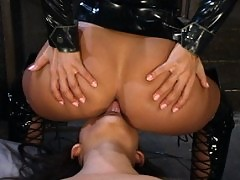 Slapping, smothering, clamps, bondage, strap-on and more.