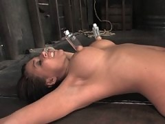 Eva Angelina is bound, gagged, and forced to CUM over and over...