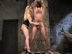 Aiden Starr fucks up slave boy