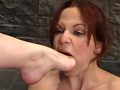 Hot redhead gets shocked and dominated by Dana DeArmond