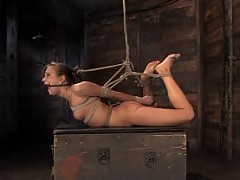 Nika Noire gets bound, stripped and made to cum! So helpless!