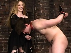 Neil is face slapped, paddled and introduced to foot worship
