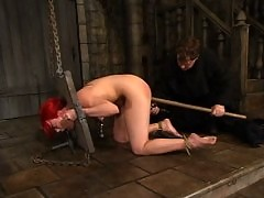 Dana DeArmond in the Medieval Underground Catacombs.