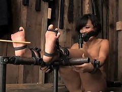 Three girl hardcore brutal BDSM live show in HD