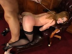 BDSM submissive Roxetta is fucked hard and enjoys the pain