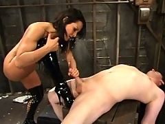 Sandra Romain tears into Her sub, with a little puppy training