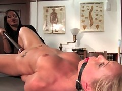 Student girl tricked into kinky lesbian sex.