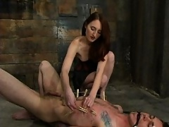Kendra wastes no time in restraining her philandering fuck-toy