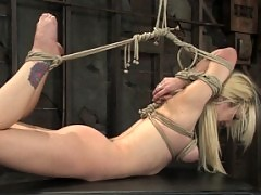 Samantha Sin gets bound, used, fucked, and forced to cum.