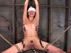 Porn novice is schooled by Sandra Romain with hard strap-on fuck