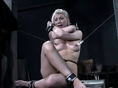 Samantha Sin and Jade Marx suffer in severe punishment bondage.