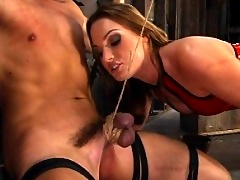 Mistress Flower Tucci does hot CBT scene